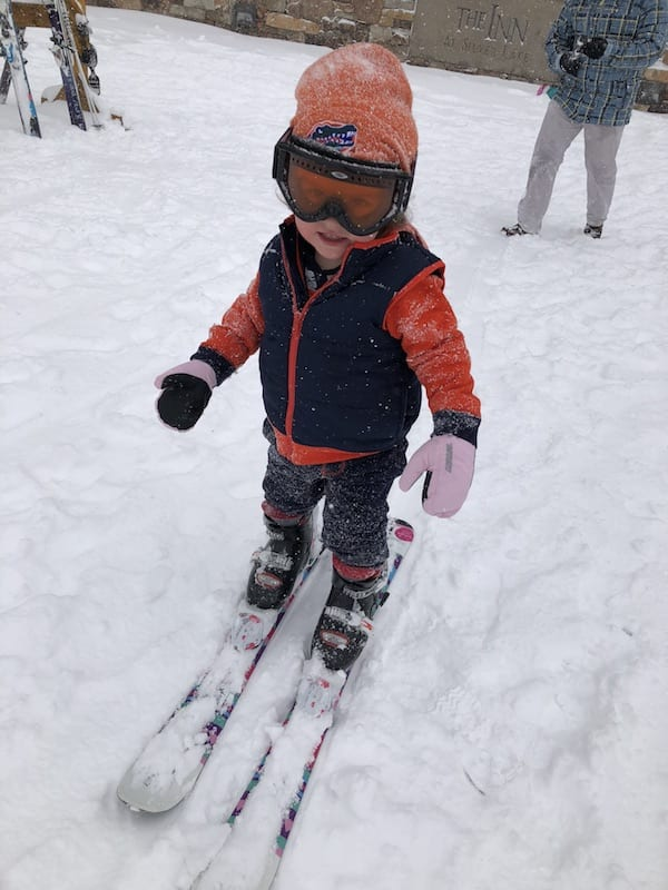 park city Utah toddler ski