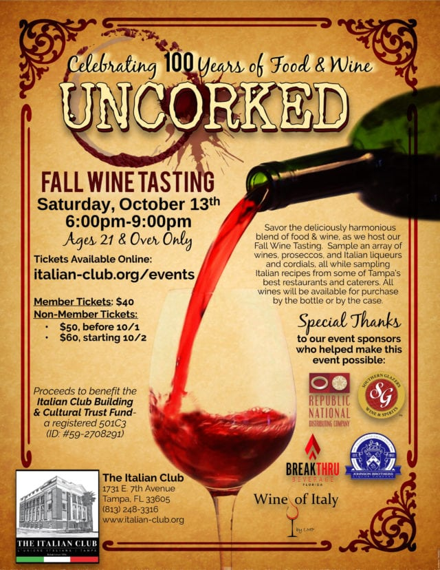 Uncorked: Fall Wine Tasting - Tampa Bay Parenting Magazine