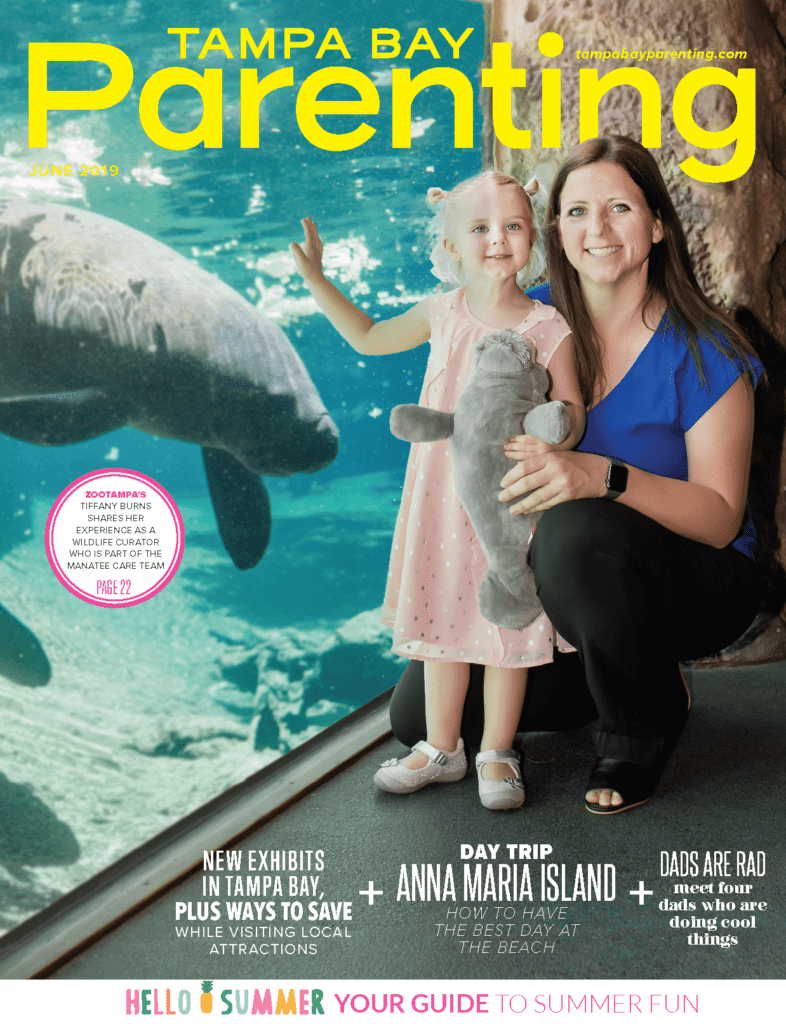Tampa Bay Parenting Magazine June cover ZooTampa