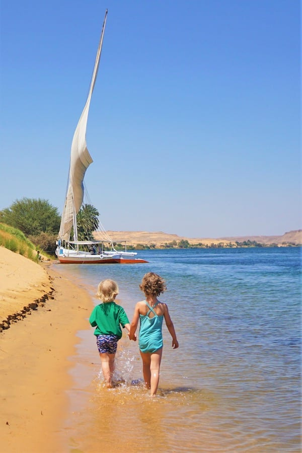Retired Toddlers in Egypt Felucca