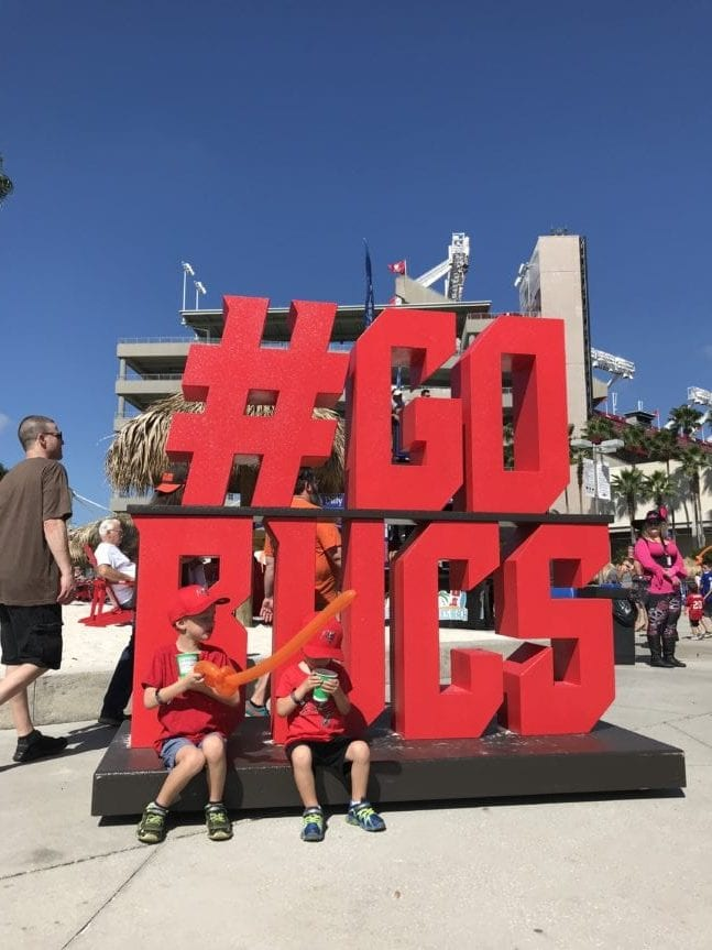 Taking Kids to a Bucs game