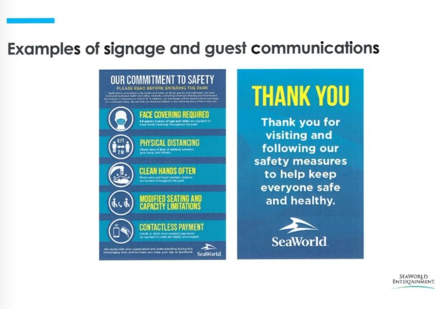 Sea World Reopens signage